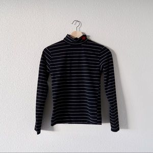 long sleeve turtle neck with heart detail